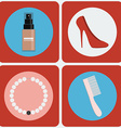 Feminine Beauty colorful icon set vector image