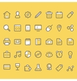 finance icons business icons set vector image