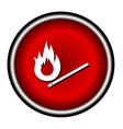 Burning match icon on white background vector image