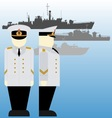 Soviet sailors during the Second World War-2 vector image vector image