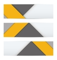 Banner of modern material design vector image