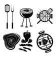 BBQ grill labels collection vector image