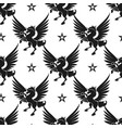 black unicorn and stars seamless pattern vector image