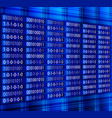 blue binary computer code repeating vector image