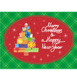 Christmas card horisont vector image