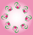 circle frame for valentine s day from green leaves vector image