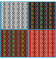 Four seamless ethnic motifs patterns vector image