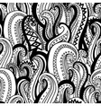 hand drawn wave abstract outline ornamental vector image