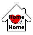 Home sweet home Red heart Design for greeting vector image
