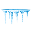 Icicles Cluster vector image