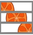 Set of banners with doodle oranges vector image