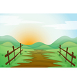 Countryside landscape background vector image vector image