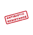 Antibiotic Resistance Text Rubber Stamp vector image