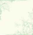vintage background green vector image vector image
