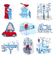 Set of Christmas Elements vector image vector image