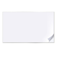 empty sheet of paper vector image