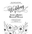 Awesome wedding invitation vector image