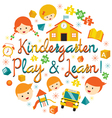 Kindergarten Preschool Kids Heading vector image