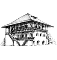Artistic sketch of house vector image