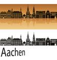 Aachen skyline in orange vector image vector image