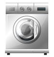 Washing machine on white background vector image