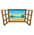 Sea View Window vector image vector image