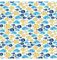 fabric seamless pattern with sea fishes vector image