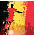Football Belgium vector image