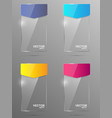 Glass banner set Design template vector image