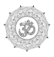 Hand drawn Ohm symbol indian Diwali spiritual vector image