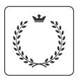 Laurel wreath icon crown flat symbol victory vector image