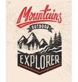 mountain badge vector image