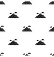 mountain icon in black style for web vector image
