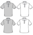 polo shirt set vector image