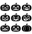 Pumpkins Set for Halloween vector image