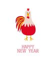 Rooster Cock bird 2017 Happy New Year symbol vector image