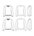 set of sweatshirts vector image