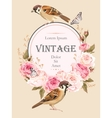 Vintage card with birds vector image