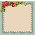 vintage napkin and a bouquet of roses place for yo vector image