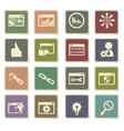 seo icon set vector image