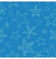 Starfish blue texture seamless pattern background vector image vector image