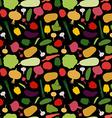 pattern vegetable background Vegetables fresh vector image