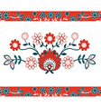Folk Design With Flower-1 vector image