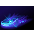 Blue Glowing Car vector image