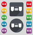 Scoreboard icon sign A set of 12 colored buttons vector image