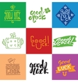 Good luck lettering set vector image