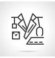 Black line doctor icon vector image