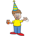 Cartoon Boy Waving vector image
