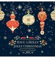 Holiday and Christmas hand drawing greeting card vector image