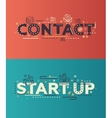 Modern flat design Contact Start Up lettering vector image